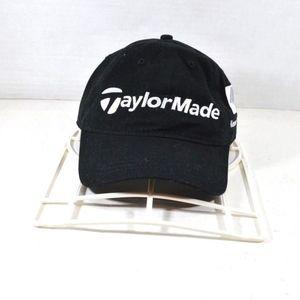 TaylorMade New Mens Strap Back Golf Dad Hat Black